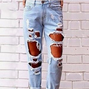 Hollister Highly Distressed SoCal Stretch Jeans